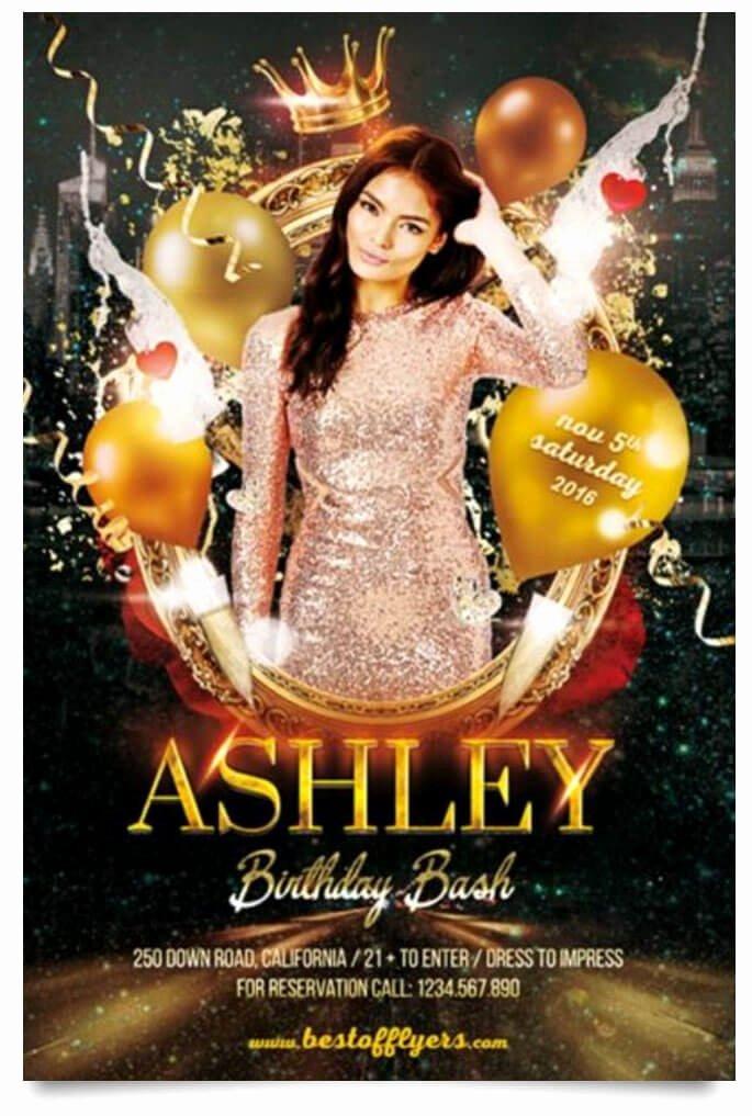 Birthday Bash Flyer Template Inspirational 15 Free Birthday Party Flyer Templates Tech Trainee