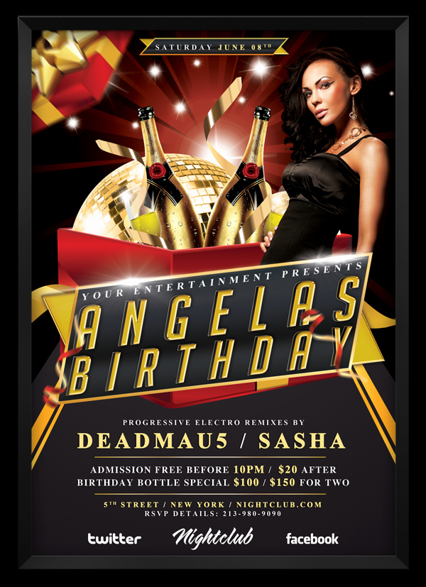 Birthday Bash Flyer Template Inspirational 17 Birthday Bash Psd Templates Birthday Bash
