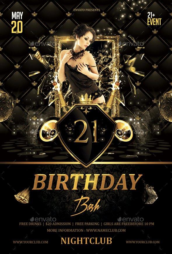 Birthday Bash Flyer Template Inspirational Birthday Bash Flyer by butu85
