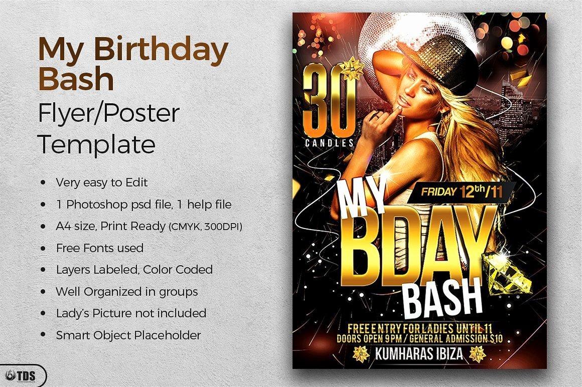 Birthday Bash Flyer Template Inspirational Birthday Bash Flyer Template