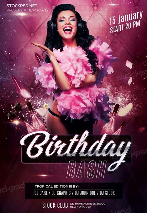 Birthday Bash Flyer Template Inspirational Birthday Bash Party Free Psd Flyer Template Download