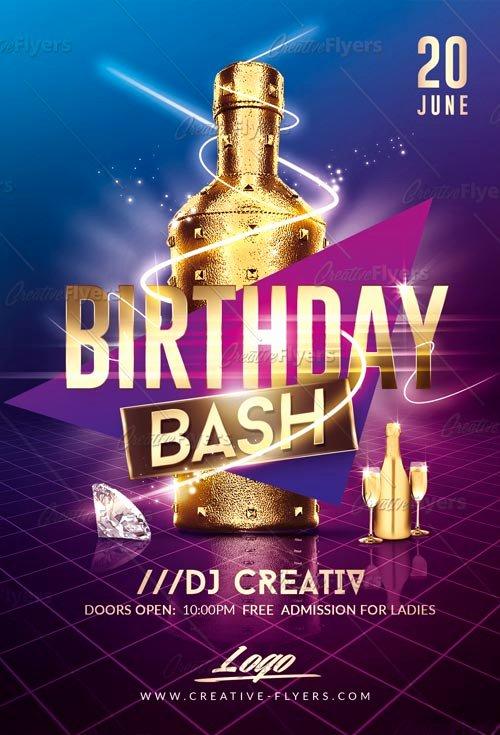 Birthday Bash Flyer Template Inspirational Birthday Party Flyer Psd Templates Creative Flyers