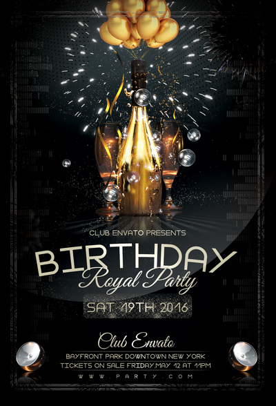 Birthday Bash Flyer Template Inspirational Birthday Royal Party Flyer Template by Stormclub On Deviantart