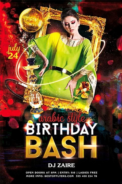 Birthday Bash Flyer Template Lovely 11 Beautiful & Free Birthday Flyers Templates