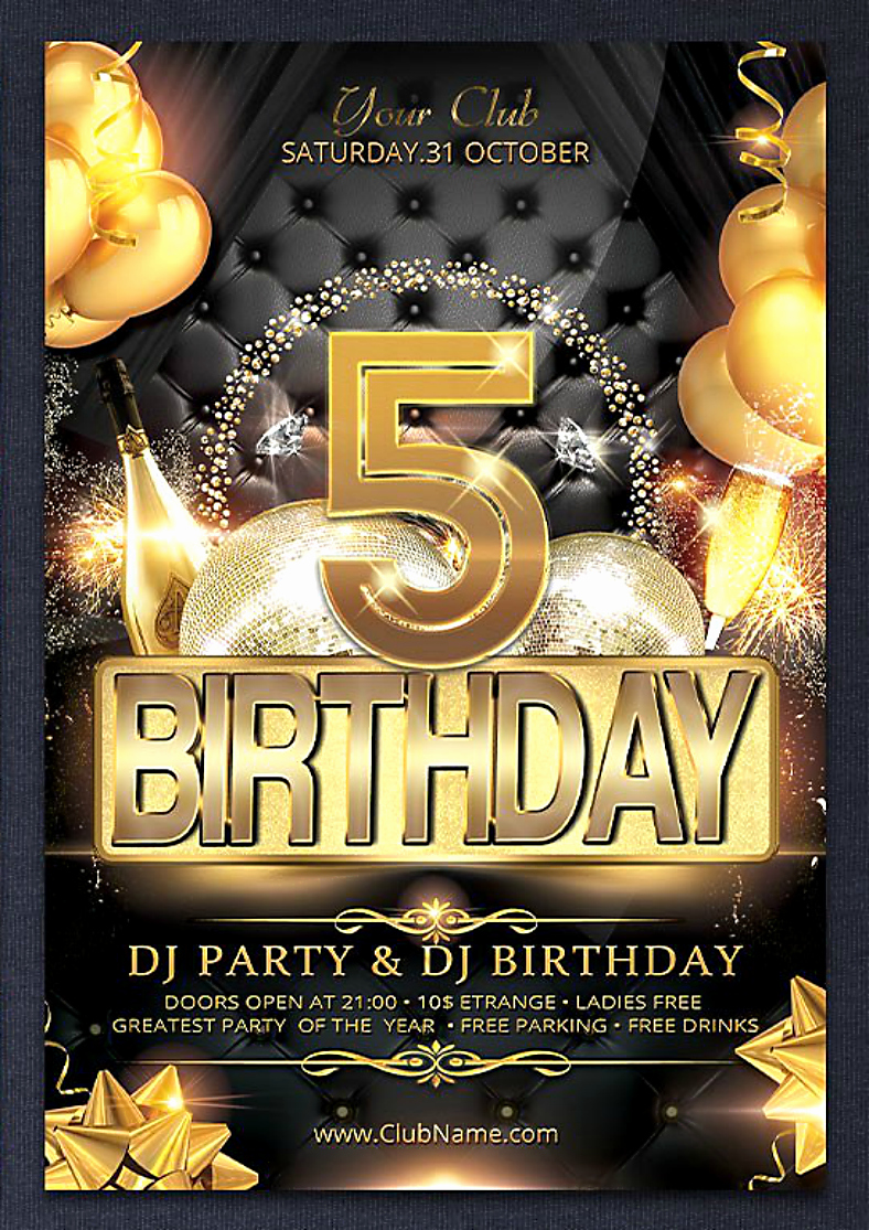 Birthday Bash Flyer Template Lovely 15 Anniversary Flyer Designs In Psd