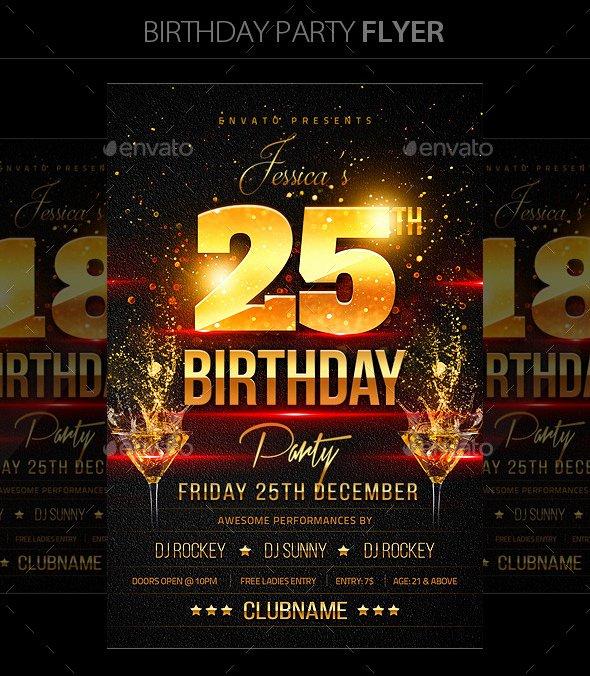 Birthday Bash Flyer Template Lovely 16 Birthday Templates Free Psd Eps Word Pdf