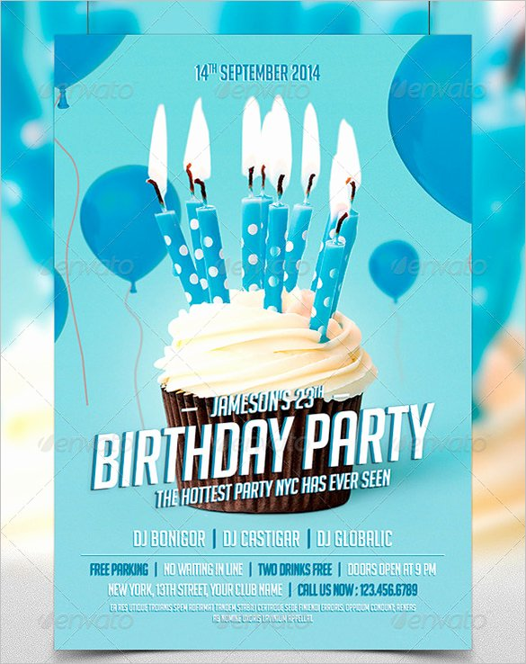Birthday Bash Flyer Template Lovely 19 Amazing Birthday Party Psd Flyer Templates In Word
