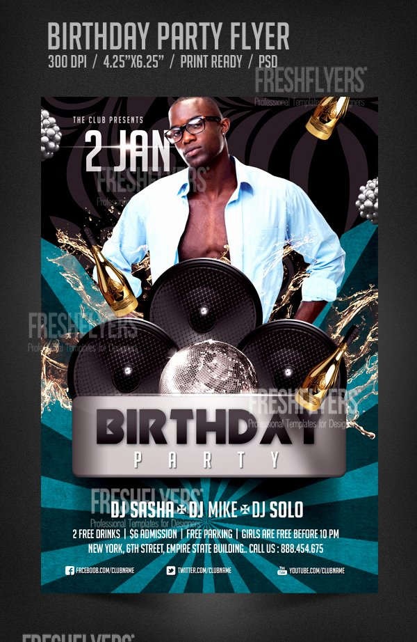Birthday Bash Flyer Template Lovely 5 Best Of Birthday Bash Flyers Birthday Party
