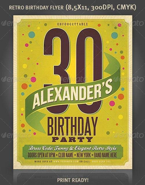 Birthday Bash Flyer Template Lovely Birthday Party Birthday Bash Celebration Flyer Poster