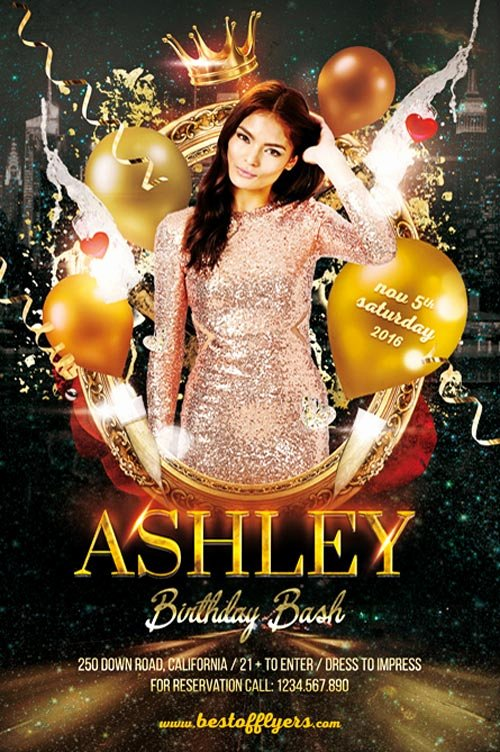 Birthday Bash Flyer Template Luxury Birthday Bash Party Flyer Template Download Birthday