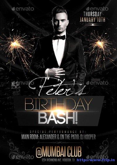 Birthday Bash Flyer Template New 30 Best Birthday Bash Party Flyer Print Templates