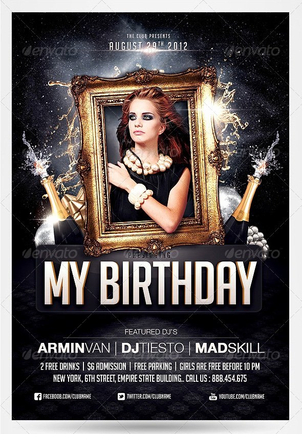 Birthday Bash Flyer Template New 55 Club & Party event Flyer Templates Tutorial Zone