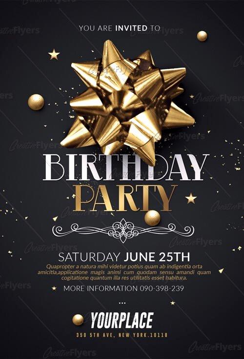 Birthday Bash Flyer Template New Birthday Party Flyer Psd