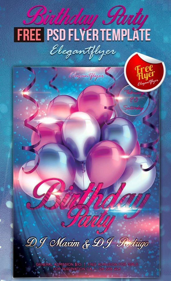 Birthday Bash Flyer Template Unique 31 Free Party & Club Flyer Templates