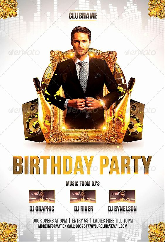 Birthday Bash Flyer Template Unique Birthday Party Flyer Template