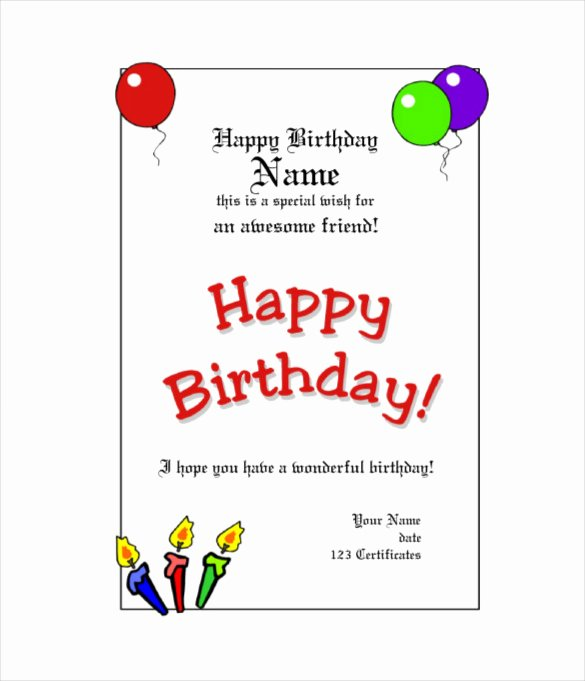 Birthday Gift Certificate Template Free Awesome Birthday Gift Certificate Templates 16 Free Word Pdf
