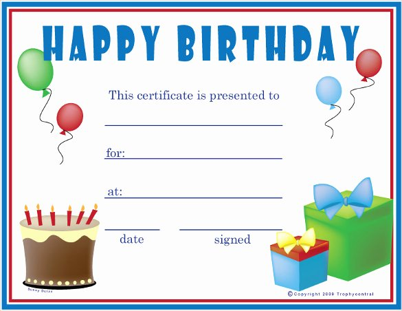 Birthday Gift Certificate Template Free Beautiful Birthday Certificate Templates – 26 Free Psd Eps In