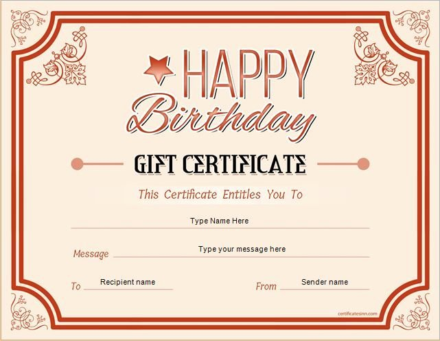 Birthday Gift Certificate Template Free Beautiful Pin by Alizbath Adam On Certificates