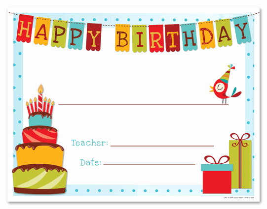 Birthday Gift Certificate Template Free Best Of Happy Birthday Gift Certificate Template