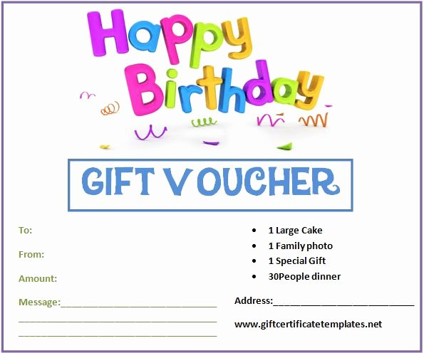 Birthday Gift Certificate Template Free Elegant Birthday Gift Certificate Templates by