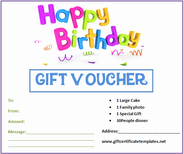 Birthday Gift Certificate Template Free Fresh Birthday T Certificate Template