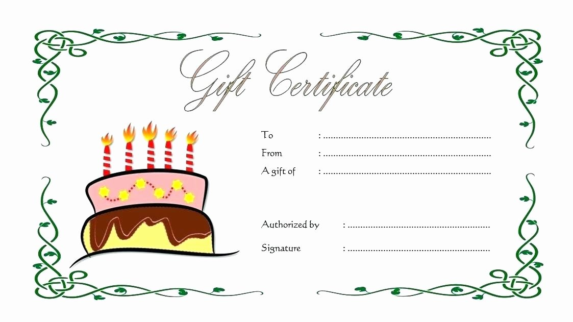 Birthday Gift Certificate Template Free Fresh Gift Vouchers Templates Birthday Voucher Template Free