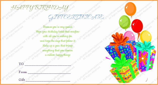 Birthday Gift Certificate Template Free Fresh Printable Gift Bumper Birthday Gift Certificate Template