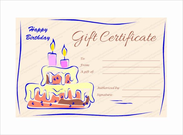 Birthday Gift Certificate Template Free Inspirational Birthday Gift Certificate Templates 16 Free Word Pdf