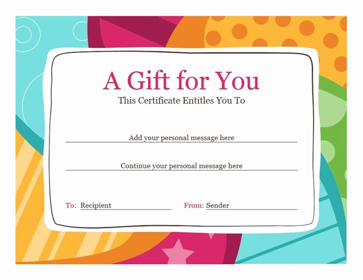 Birthday Gift Certificate Template Free Lovely Best 25 Gift Certificate Template Word Ideas On Pinterest