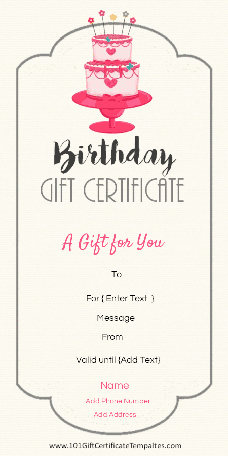 Birthday Gift Certificate Template Free Luxury Birthday Gift Certificate Templates 101 Gift Certificate