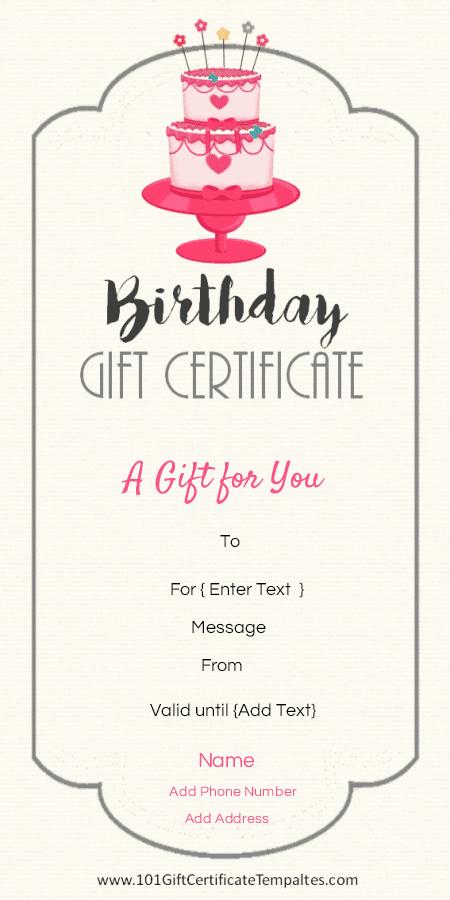 Birthday Gift Certificate Template Free Luxury Birthday Gift Certificate Templates 101 Gift Certificate