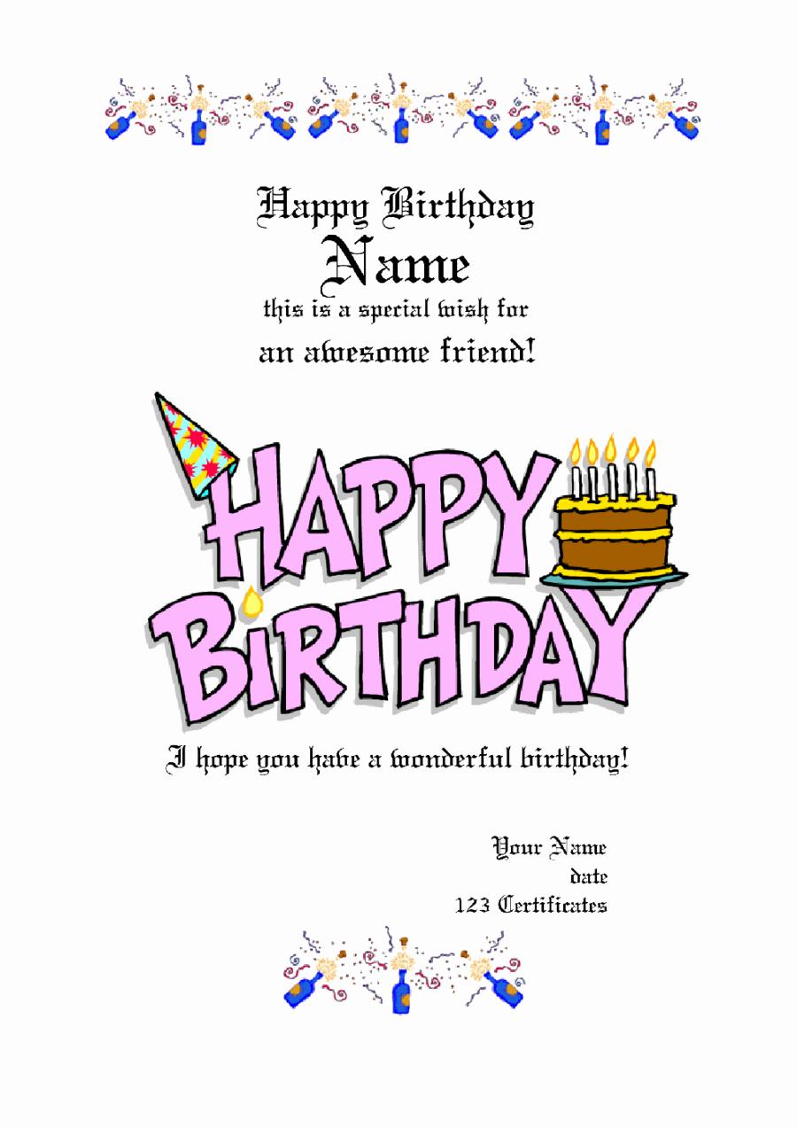 Birthday Gift Certificate Template Free Luxury Gift Certificate Template Free Printable Gift