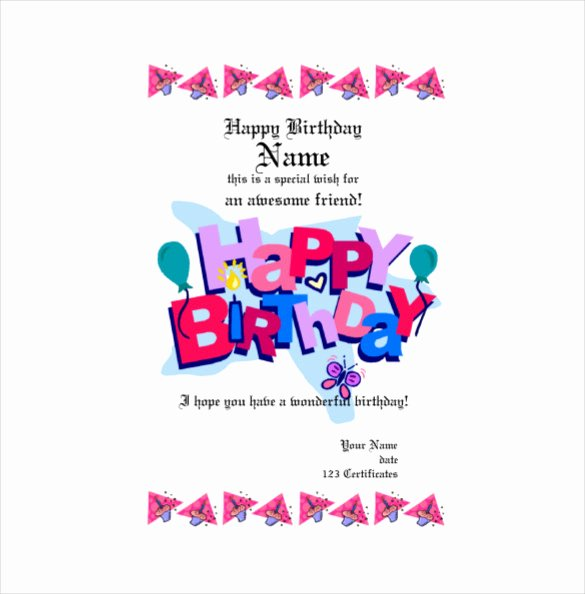 Birthday Gift Certificate Template Free New Birthday Gift Certificate Templates 16 Free Word Pdf