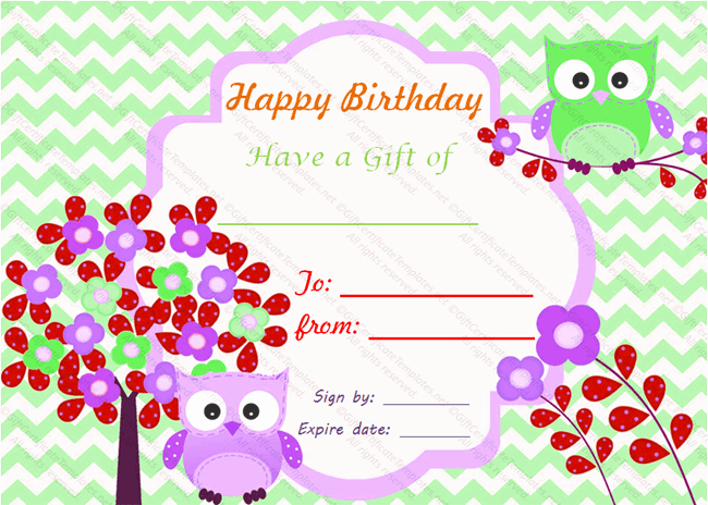 Birthday Gift Certificate Template Free Unique Birthday Bumps Gift Certificate Template