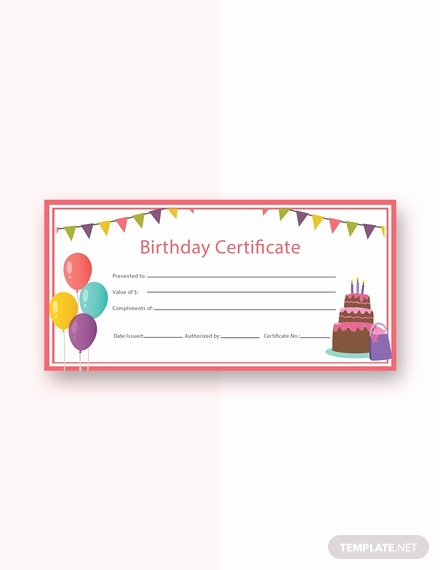 Birthday Gift Certificate Template Free Unique Free Birthday Gift Certificate Template Download 232