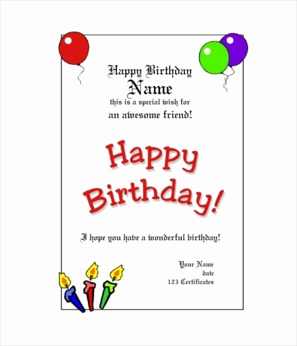 Birthday Gift Certificate Template Free Unique Free Customizable Birthday T Certificate Template Free