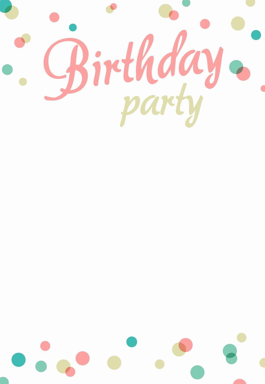 Birthday Invitation Email Template Best Of Birthday Party Invitation Free Printable