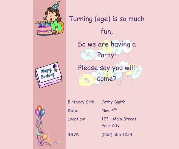 Birthday Invitation Email Template Elegant Birthday Invitation Email Template 23 Free Psd Eps