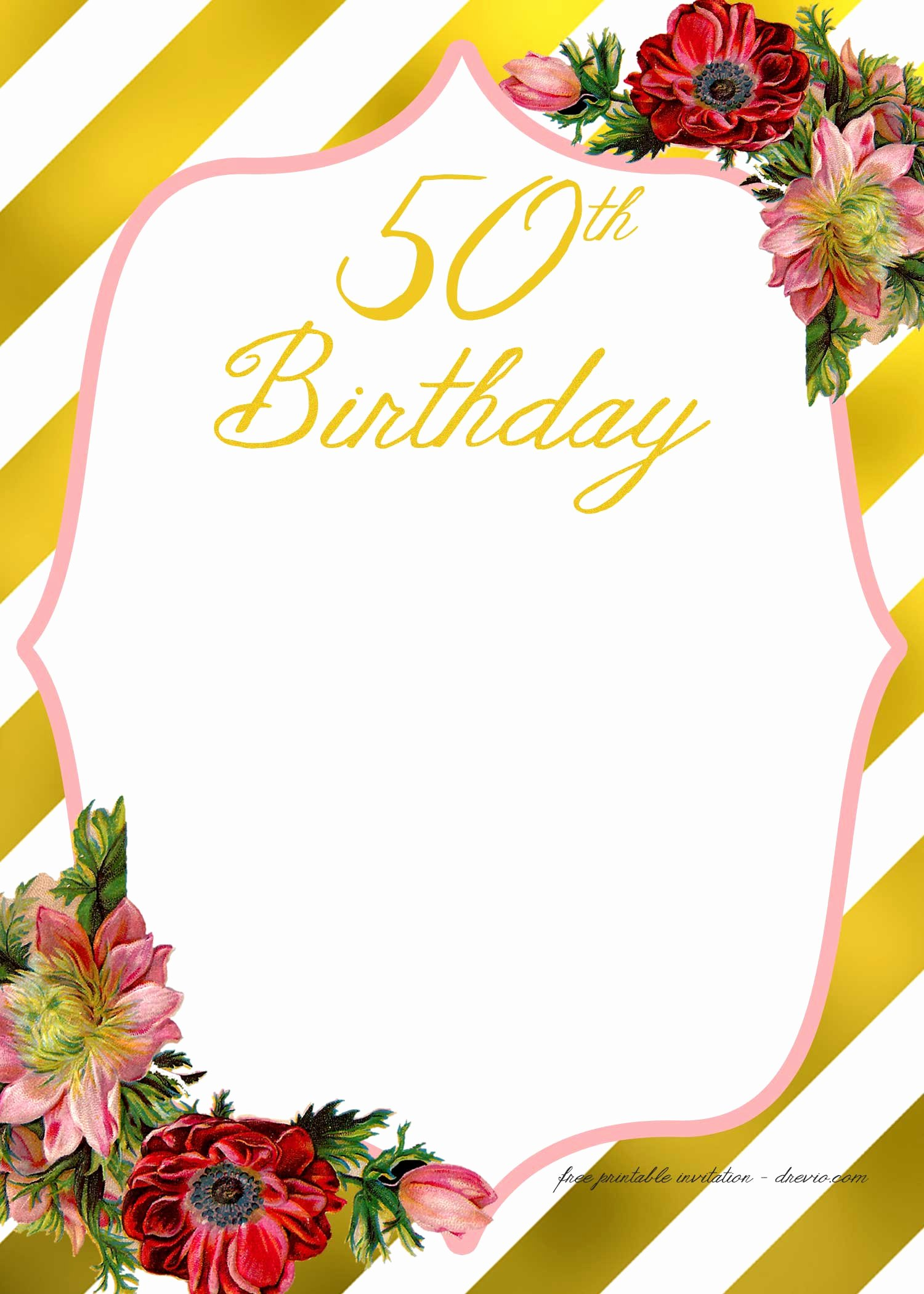 Birthday Invitation Email Template New Free Printable Adult Birthday Invitation Template – Free