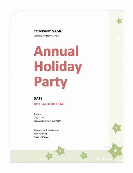 Birthday Invitation Email Template Unique Pany Holiday Party Invitation