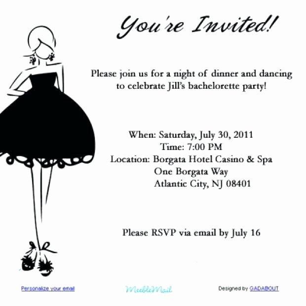 Birthday Invitation Email Template Unique Party Invite Templates for Email Invitation Template Free