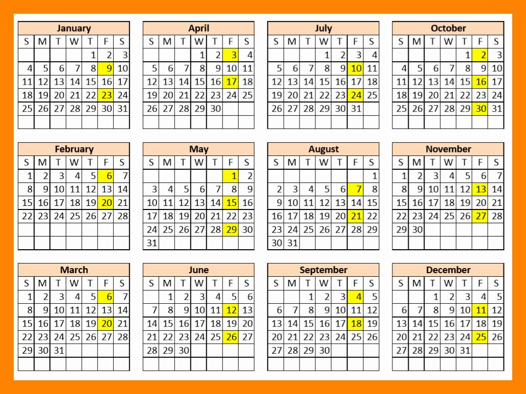 Biweekly Pay Schedule Template Best Of 9 2018 Bi Weekly Payroll Calendar