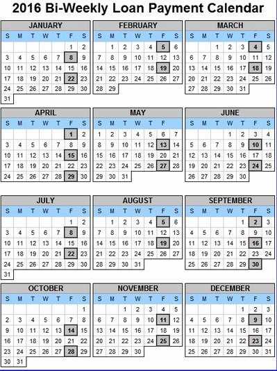 2017 biweekly payroll schedule template excel