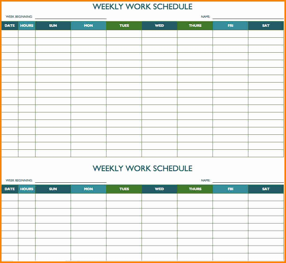 Biweekly Pay Schedule Template Fresh 6 Bi Weekly Bill Pay Template