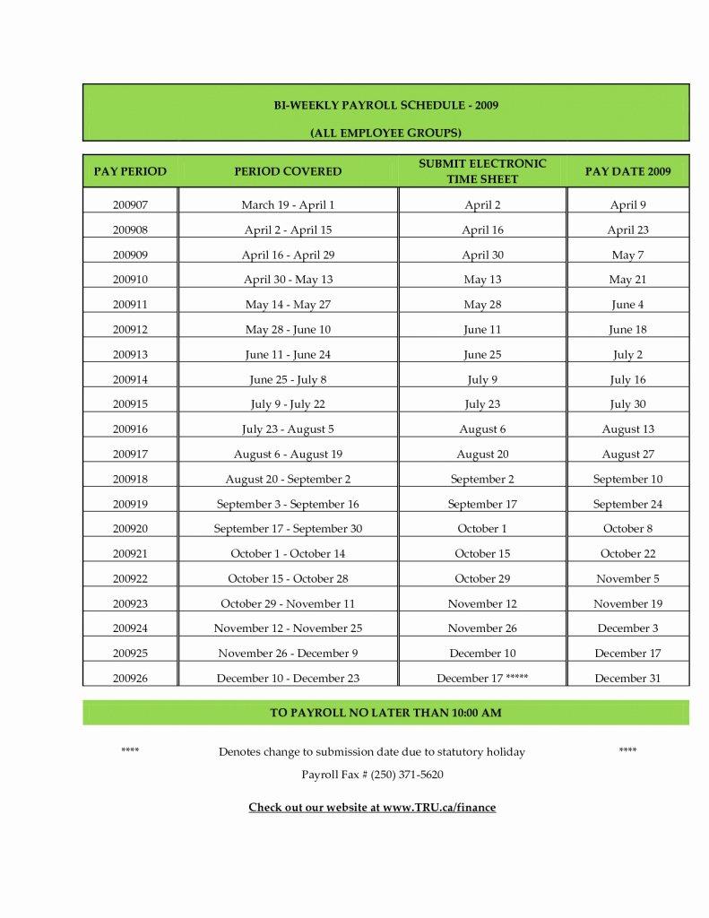 Biweekly Pay Schedule Template Fresh Adp 2016 Payroll Calendar Printable