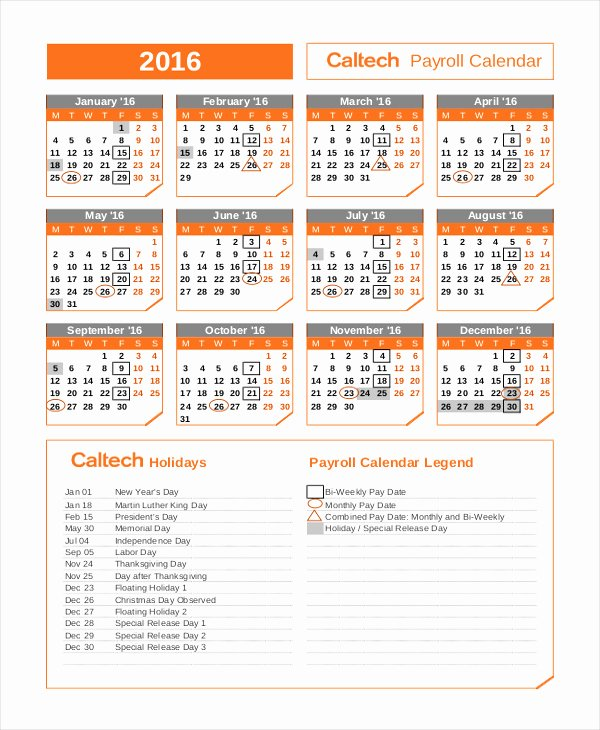Biweekly Pay Schedule Template Fresh Semi Monthly Payroll Calendar 2018 2019 Template Twitter