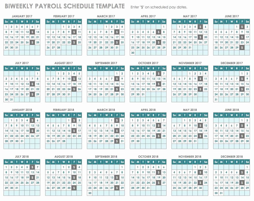 Biweekly Pay Schedule Template Lovely 15 Free Payroll Templates