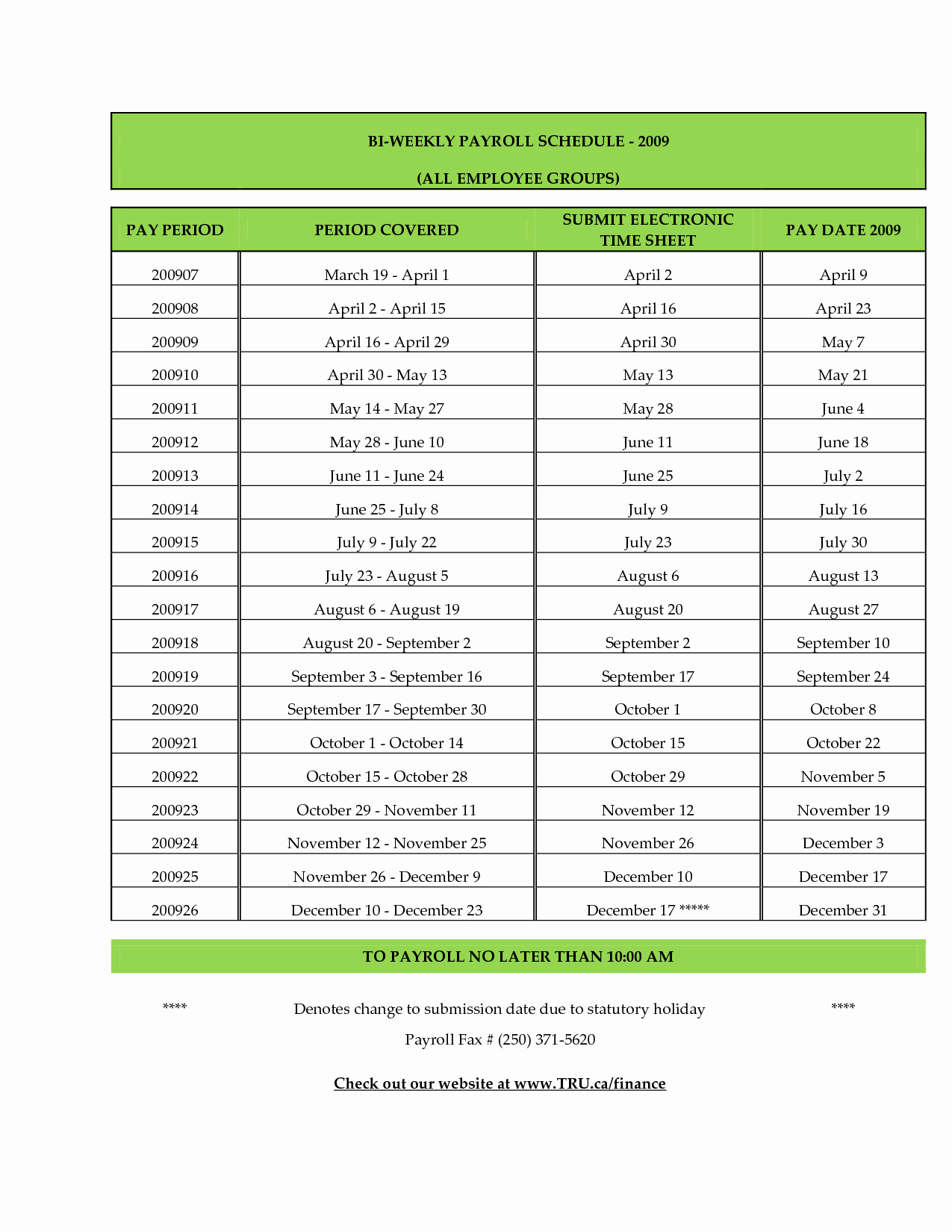 Biweekly Pay Schedule Template Luxury Employee Leave Calendar 2017