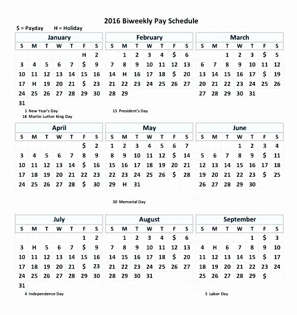 Biweekly Pay Schedule Template New Bi Weekly Calendar Template Blank Monthly Excel Email In