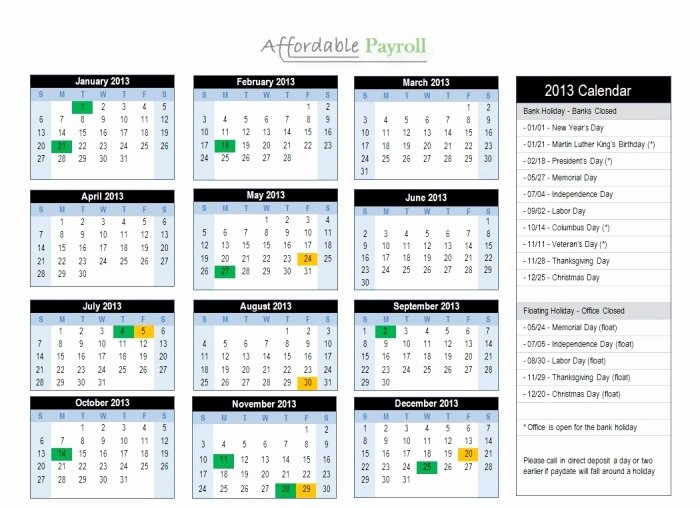 Biweekly Pay Schedule Template Unique Adp 2016 Payroll Calendar Printable